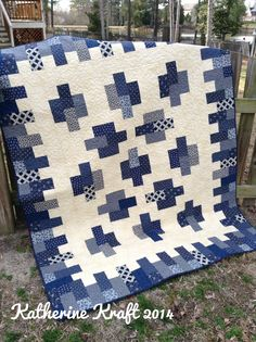 """UFO #5 of 2014 """"My Blue Heaven"""" pattern by Atkinson Designs (Cheese & Crackers) 3/11/14"""