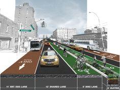 21st Avenue Corridor in New York. By WXY Architecture + Urban Design.