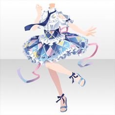 First Dress Kasumi Clothing Sketches, Dress Sketches, Fashion Sketches, Dress Drawing, Drawing Clothes, Anime Uniform, Anime Dress, Cocoppa Play, Character Design