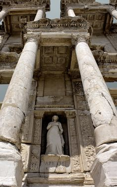 The library of Celsus is an ancient Roman building in Ephesus, Anatolia