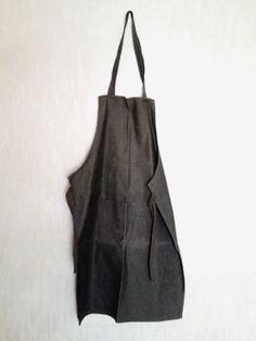 Vintage military industrial green waxed canvas apron, Bulgarian