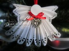 Here's a clean and simple card using the snowflake dies from Impression Obsession  - I love the detail in these dies!      I cut them out of...