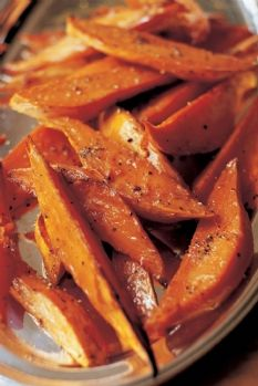 Baked sweet potato 'fries' ala Barefoot Contessa
