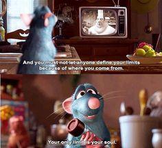 ratatouille is my favorite :) Disney Dream, Disney Magic, Disney And Dreamworks, Disney Pixar, Ratatouille Movie, Cute Disney Quotes, Disney Lines, Best Movie Lines, Disney Nerd