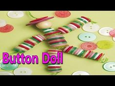 Hand Made Button Doll | Best From Waste Material | Hand Creativity | Easy Step to Follow - YouTube