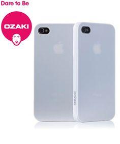 Ozaki iCoat 0.4mm voor iPhone 4/4S - Grijs