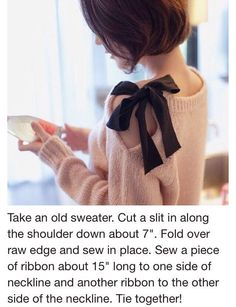 Have A Old Sweater? Turn Into This