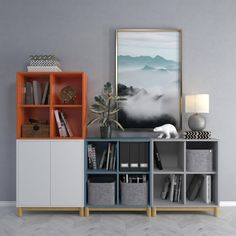 models: Sideboard & Chest of drawer - Cabinet combination Ikea 2 Ikea Living Room, Living Room Update, Ikea Bedroom, Living Room Storage, Ikea Eket, Ikea Hack, Home And Deco, Kid Beds, Playroom