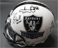 Tim Brown Marcus Allen Fred Biletnikoff Howie Long     Signed Auto FS Helmet - JSA Certified - Autographed NFL Helmets * Find out more about the great product at the image link.