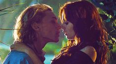 jamie campbell bower lily collins kiss gif