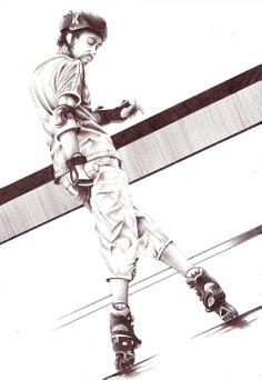 Ballpen illustration - Nicolas Lantoine #ballpen #illustration #roller