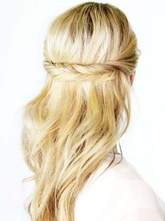 #coiffure #long #tresse #attache