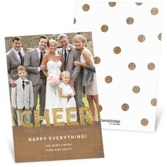 From the David Tutera Holiday Collection. A cheerful way to send your holiday wishes and share a photo of your big day! #holiday #ChristmasCards