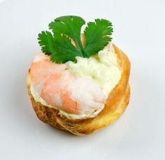 Choux à la crème d'avocat, crevettes et coriandre - Et si c'était bon...