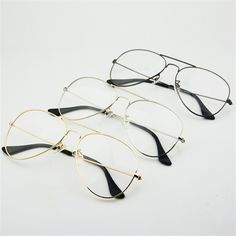 7594ef8dff Aliexpress.com: Comprar YOOSKE Moda Mujeres Marcos de los Vidrios Hombres  Transparente Lente Transparente Gafas Clásicas gafas de Sol de Diseño de  Metal de ...