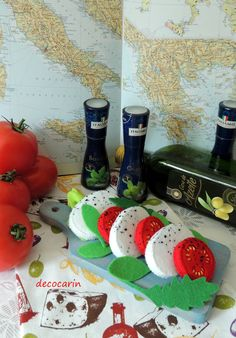 Felt Food Felt Caprese Salad Italian Food Felt Cheese by decocarin