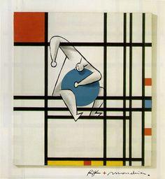 Digital Illustration inspired by the works of the master Piet Mondrian | Illustrator: Riccardo Guasco | riccardoguasco.com