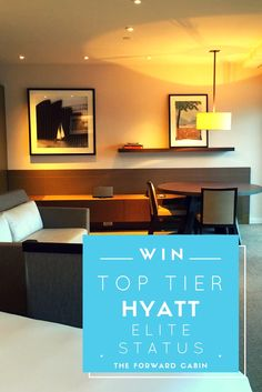 Enter to win Hyatt Globalist elite status, which includes free suite upgrades, club access, waived resort fees, free parking and more!