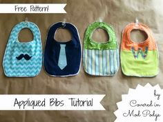 Covered in Mod Podge: Appliqued Bib Tutorial {with free pattern!}