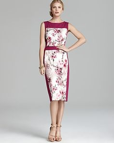 BASLER - floral color block sheath