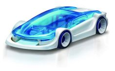 A Pocket Size Fuel Cell Car That Runs Off Salt Water! This nippy little car has got to be in the running for the title of smallest, coolest fuel cell car around! Fuel Cell Cars, Car Fuel, Water Powered Car, Eco Kids, Science Toys, Best Stocking Stuffers, Club Design, New Gadgets, Kit Cars