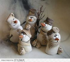 result for pottery suggestions christmas - Diy and craft Clay Christmas Decorations, Polymer Clay Christmas, Polymer Clay Art, Christmas Ornaments, Christmas Christmas, Snowman Crafts, Holiday Crafts, Clay Ornaments, Paperclay