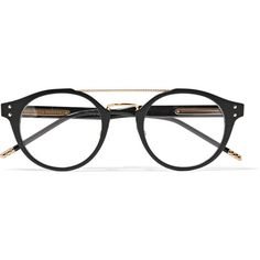 Bottega Veneta Round-frame acetate and gold-tone optical glasses (£330) ❤ liked on Polyvore featuring accessories, eyewear, eyeglasses, sunglasses, bottega veneta, bottega veneta eyewear, uv protection glasses, acetate glasses and mirror glasses