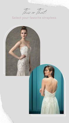 Popular Wedding Dresses, Bridal Wedding Dresses, Wedding Dress Styles, Strapless Dress Formal, Formal Dresses, Silk Fabric, Dress Collection, Feminine, Bride