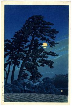 川瀬巴水(かわせはすい) - 馬込の月 - 新版画販売 - 浮世絵ぎゃらりい秋華洞
