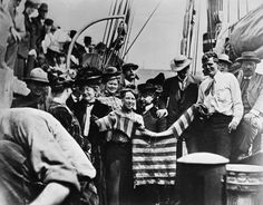 "The day Jack London sailed from the foot of Broadway for his South Pacific adventure aboard the ""Snark"" 1907"
