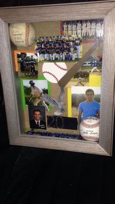 A great gift for a baseball player! It's fun to look at custom framed photos in a different angle :-) | ideas_ | Softball, Baseball, Baseball gifts