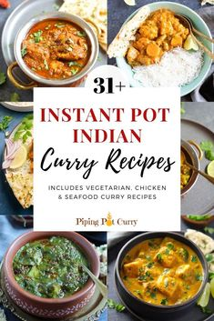 12 Instant Pot Indian Curry Recipes A collection of Instant Pot Indian Curries. Instant Pot is a perfect gadget for Indian cooking, and you will love how easy it is to make curries that you enjoy in restaurants Instant Pot Curry Recipe, Instant Pot Dinner Recipes, Instant Recipes, Seafood Curry Recipe, Curry Recipes, Rice Recipes, Vegetarian Curry, Vegetarian Recipes, Vegetarian