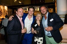 Dan Reed from Hilton, Will Chelsom and Dee Adcock from Chelsom and Alan McVitty from McVitty Interiors in party mode