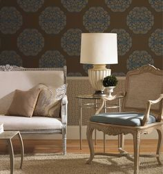 Beautiful bold motif wallpaper. <3