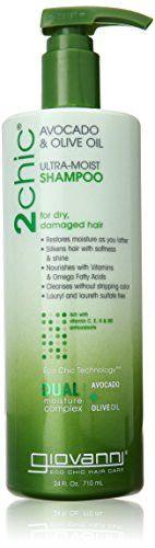 GIOVANNI COSMETICS Ultra-Moist Shampoo, Avocado/Olive Oil, 24 Fluid Ounce