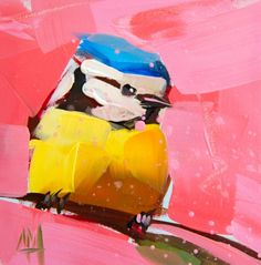 Blue Tit no. 19 Bird Print by Angela Moulton – Pratt Creek Art Oil Painting For Beginners, Oil Painting Techniques, Love Painting, Texture Painting, Knife Painting, Different Birds, Colossal Art, Portraits, Sculpture