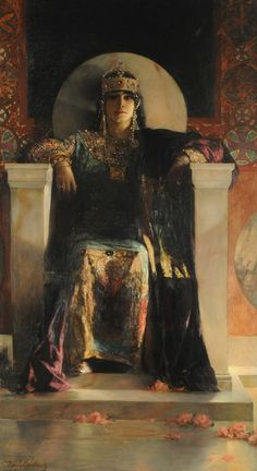 Theodora, Jean Joseph Benjamin Constant, Constant was a French painter and etcher best known for his Oriental subjects and portraits. Pre Raphaelite, Classical Art, Art Graphique, Fine Art, Art Plastique, Byzantine, Beautiful Paintings, Art History, Roman History