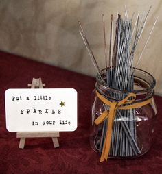 Great sign for sparklers! Laura and Daves autumn barn wedding with a handfasting ceremony and seasonal decorations | The Natural Wedding Company