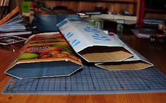 Villmarkshjerte: Hvordan lage en melkekartong-lommebok!!! Crafts, Crafting, Handmade Crafts, Diy Crafts, Arts And Crafts, Craft