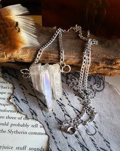 Angel Aura Quartz Spike Necklace