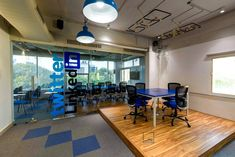 Digital Nest - Young workspace with a stage for events and presentations in the office Workspace Design, Twin Cities, Office Interiors, The Office, Nest, Digital Marketing, Stage, Layout, Events