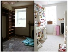 before and after: craft room