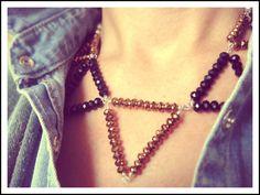 ☆ schwarz & bronze - statement necklace ☆ von SchimmerSchmiede auf DaWanda.com