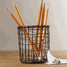 Vintage Wire Pencil Cup, $4.99