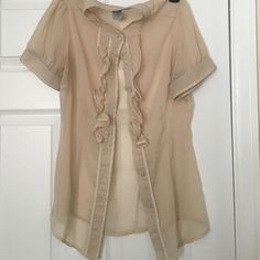 Charolette Russe retired blouse very chic Worn with love was one of my favorite tops but in great condition Charlotte Russe Tops Blouses