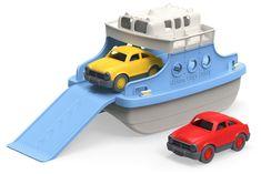 Ferry con coches para el agua de Green Toys.  Barco de juguete de agua para el agua. Para jugar en el baño, la playa o la piscina.