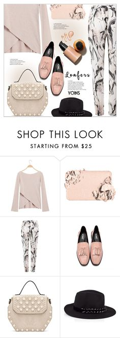 """""""Fall Footwear Trend: Loafers"""" by meyli-meyli ❤ liked on Polyvore featuring Too Faced Cosmetics, Karl Lagerfeld, loafers, yoins, yoinscollection and loveyoins"""