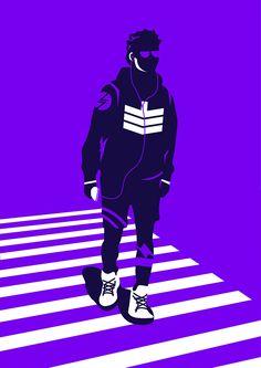 Duotone Illustrations by Neil V Fernando | Inspiration Grid | Design Inspiration #illustration #artwork #drawing #vectorart #vector #duotone #purple #inspirationgrid