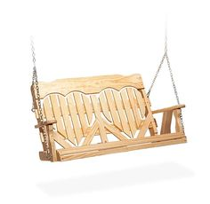 Yes it has little hearts in it. Don't judge me. PORCH SWING!    Amish Handcrafted Pine Wood High Back Heart Porch Swing