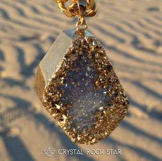 Aqua Aura Gold Druze Quartz Crystal Pendant Chakra | Third Eye Healing Reiki Infused Sacred Geometry | Aquarius Atlantis https://www.etsy.com/listing/183157400/aqua-aura-gold-druze-quartz-crystal